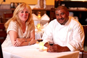 Carole and Chef Santos MacDonal